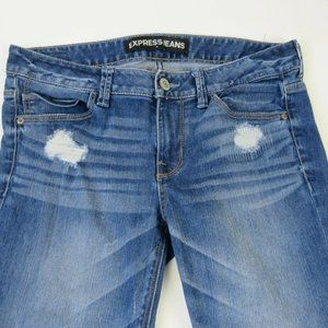 Express Jeans - Express Womens Skinny Leg Jeans Blue Medium Wash D